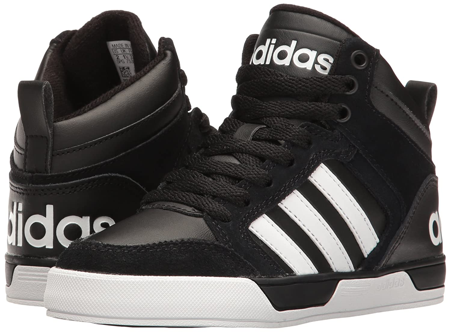 adidas Neo Kids' Sneaker Raleigh 9TIS Mid K Sneaker Kids' B01GV1642Y 2.5 Little Kid M|Black/White 7a9169