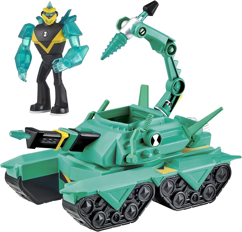 Amazon Com Ben10 Diamondhead Driller Tank Vehicle W Figure Toys
