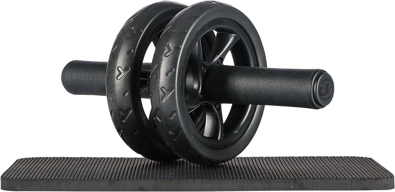Ultrasport Wheel, Roller, AB Abdominal Aparato de Entrenamiento y Ayuda para Bajar de Peso, con Rueda Doble y Superficie de Apoyo para Las Rodillas, Unisex Adulto