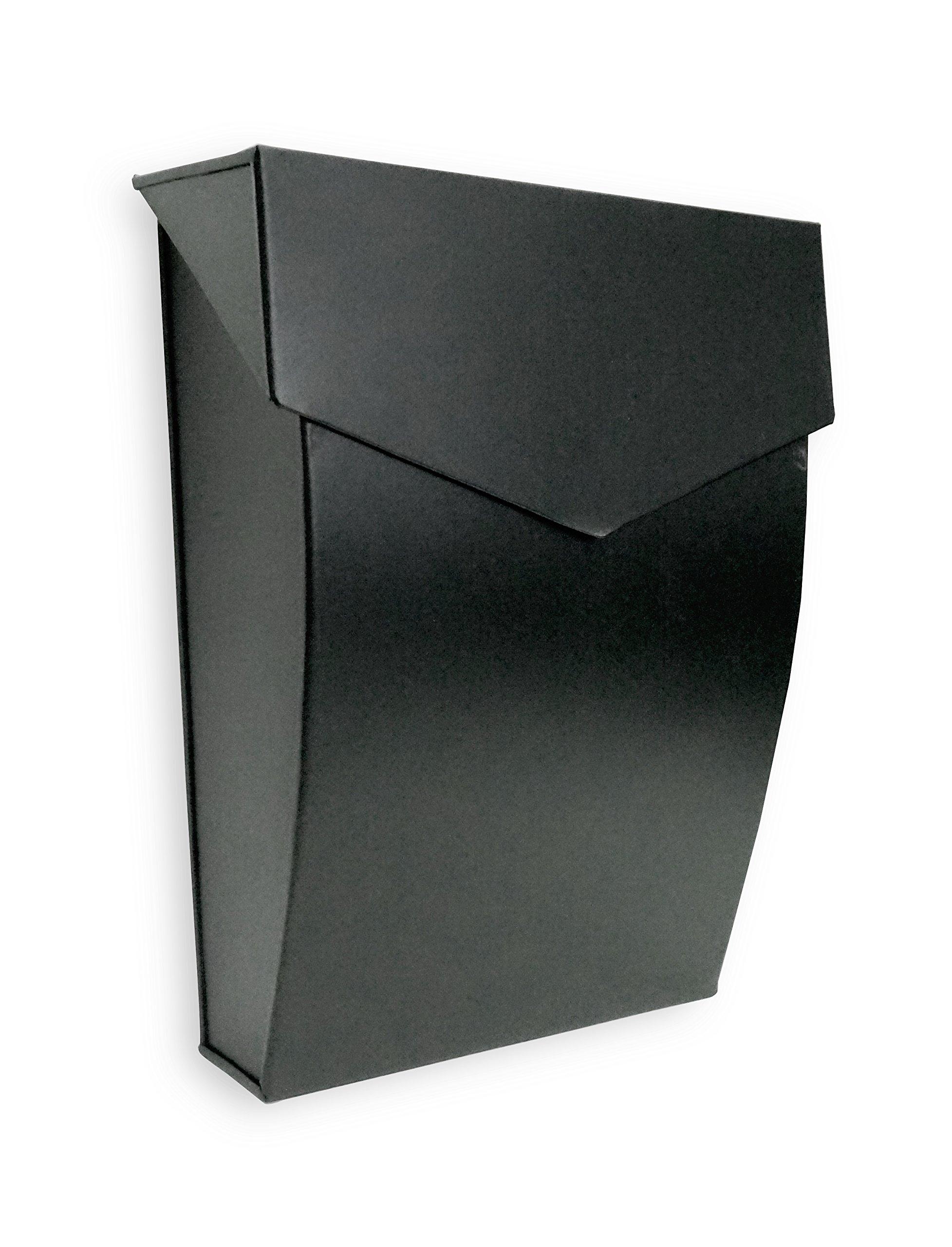 NACH MB-6921BLK Bradley Steel Mailbox - Wall Mounted Post Box, Black, 10 x 4.8 x 13 inch