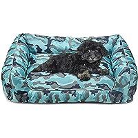 risdoada Cama rectangular para perro, desmontable y lavable, alfombra de dormir para perros, cesta gruesa de tela Oxford…