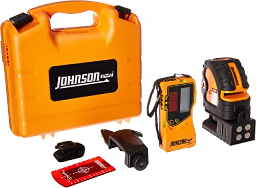 Johnson Level Tool Self-Leveling Combination Cross-Line and 5 Beam Laser Dot Kit