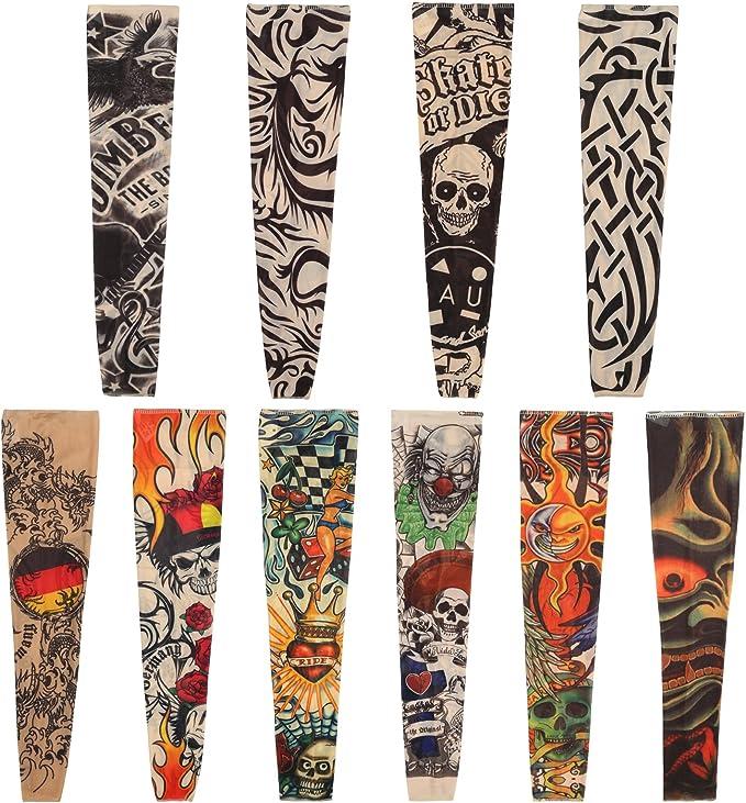 Naler 10 Mangas de Tatuajes Mangas Tatuajes Falsos Decorados ...