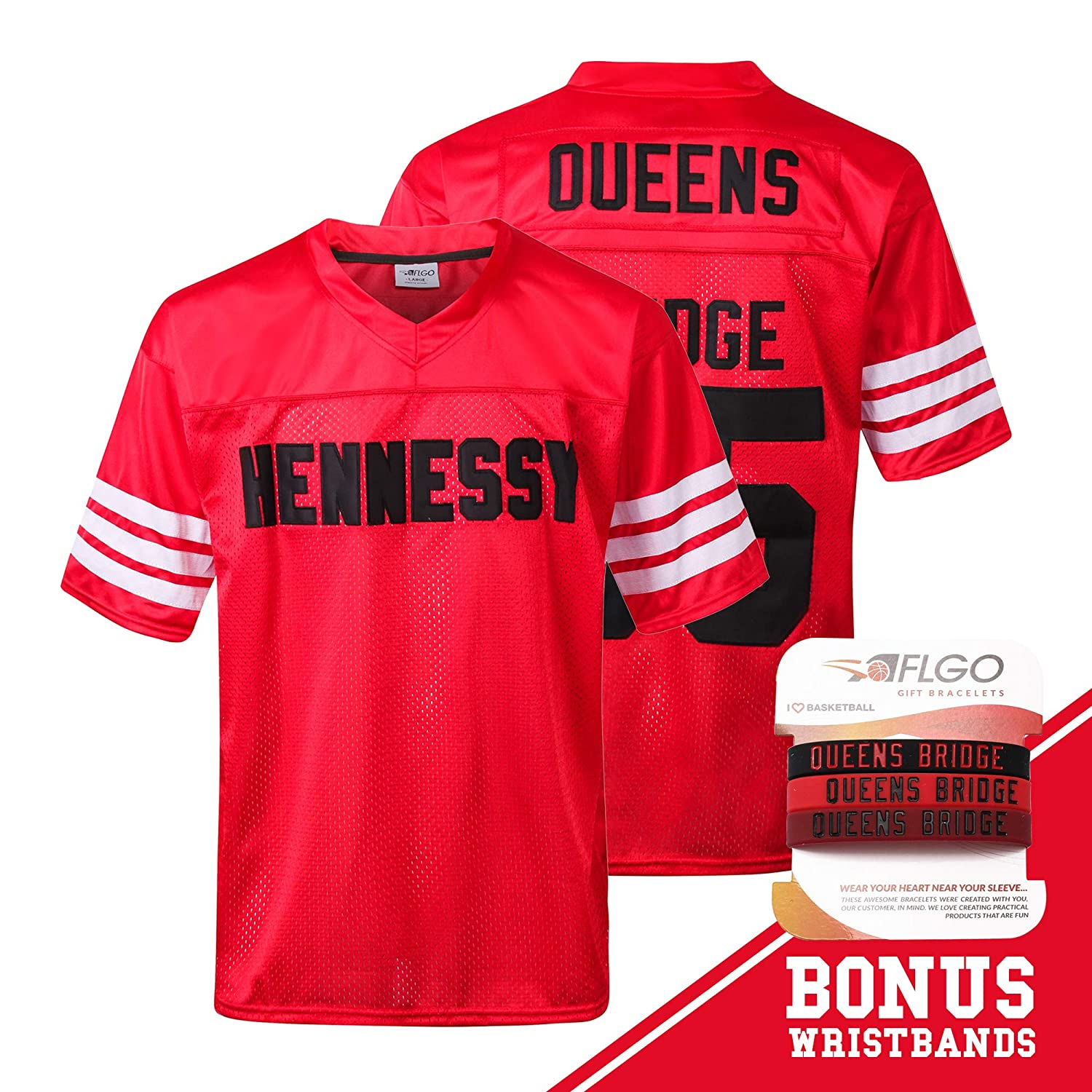 80dae09db Amazon.com : AFLGO Mobb Deep #95 Hennessy Prodigy Queens Bridge Shook Ones  Jersey Stitched Clothing Throwback, Top Bonus Combo Set with Wristbands :  Sports ...