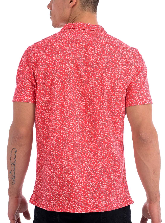 Projek Raw Mens Button Up Allover Print Short Sleeve Shirt