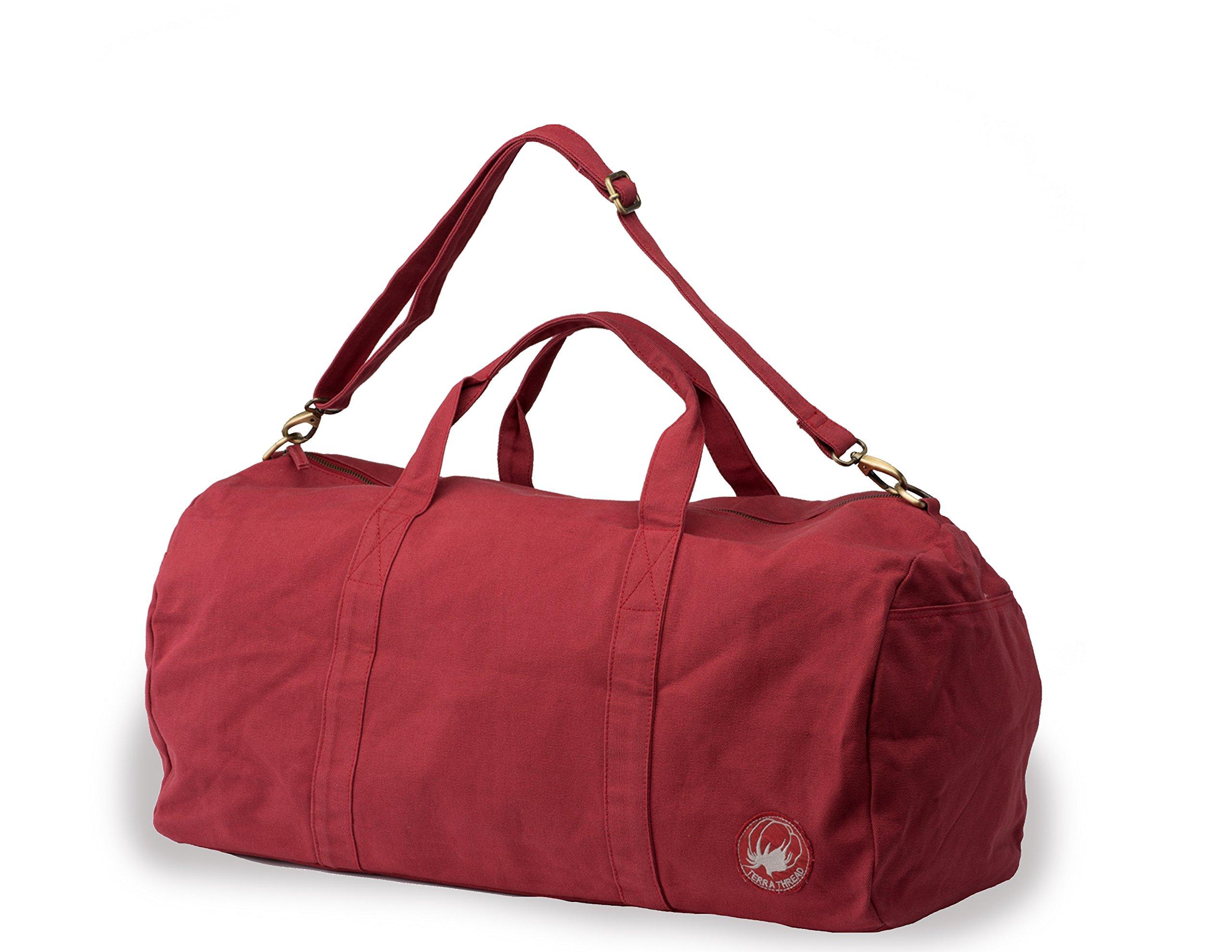 GOTS Certified. Canvas Duffel Bag. Fair trade travel bags for men and women.