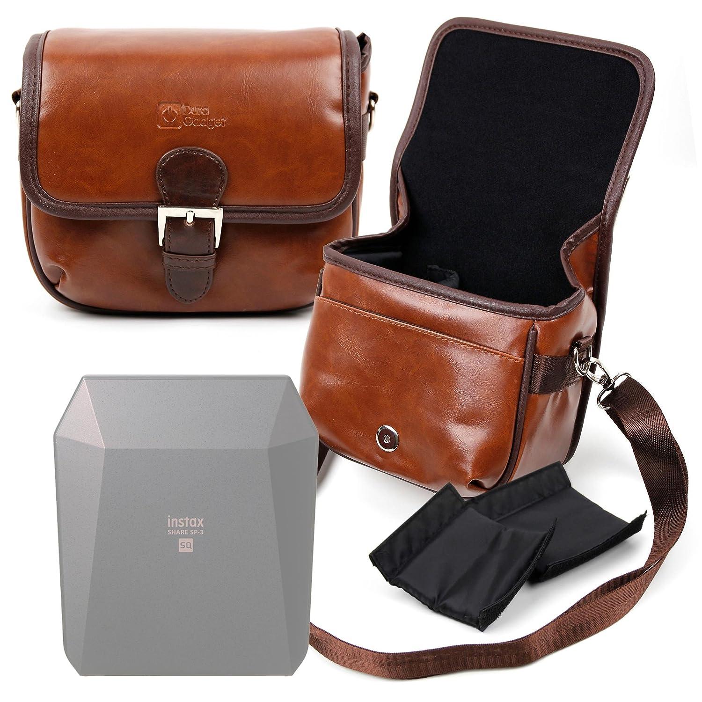 DURAGADGET Bolsa Profesional marrón con Compartimentos para Mini ...