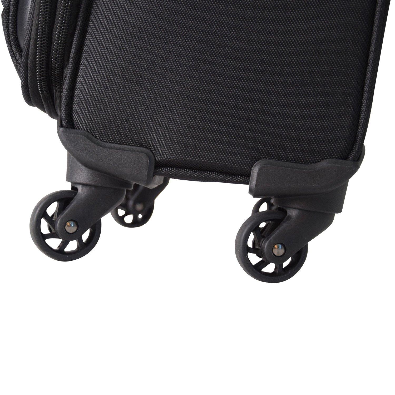 Zahlenschloss 360 Grad Rollen XL Set Softcase Weichgep/äck Kofferset L Shaik/® Serie SOMLA Design BSL 3 Gr/ö/ßen M
