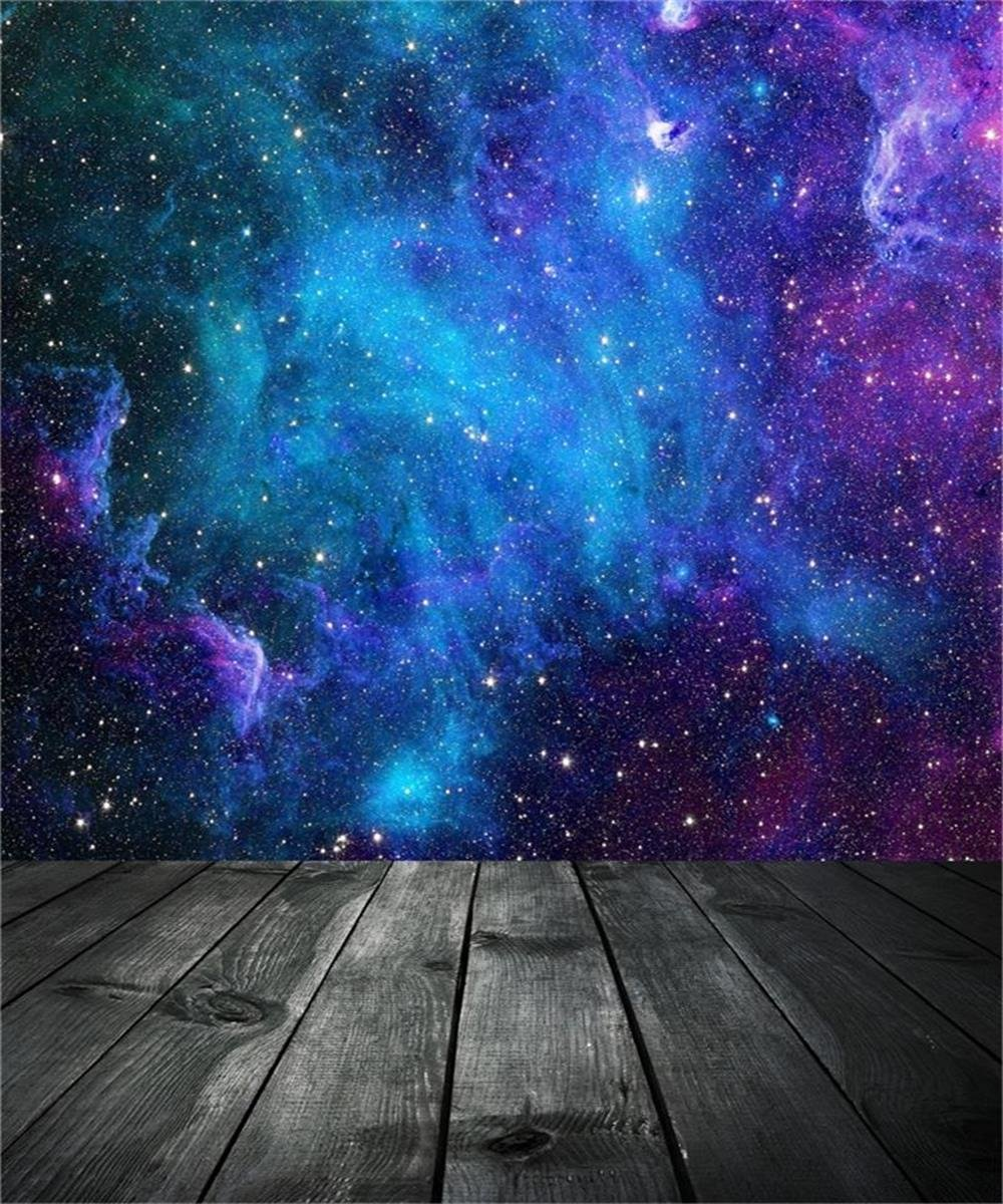 AOFOTO 10x12ft Dreamy Starry Sky With Wooden Board Photography Background Universe Galaxy Cosmic Nebula Backdrop Night Scenic Photo Studio Props Adult Girl Child Boy Artistic Portrait Vinyl Wallpaper by AOFOTO