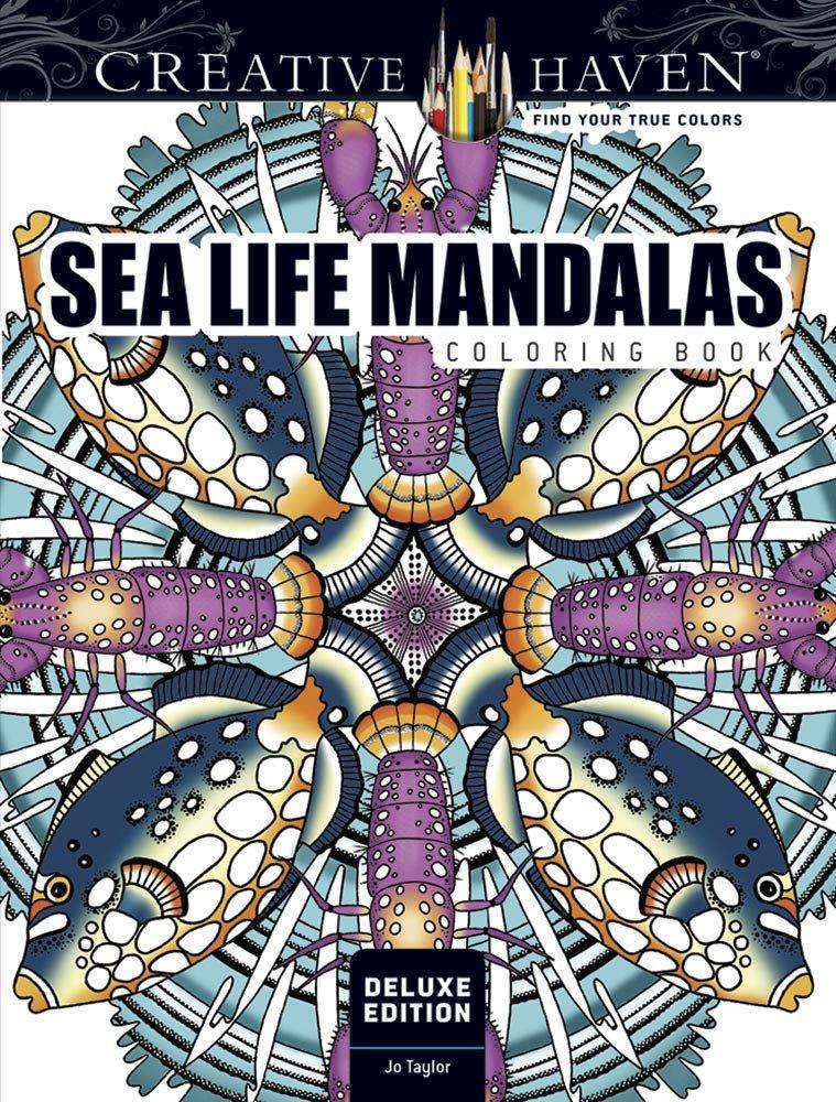 Creative Haven Deluxe Edition Sea Life Mandalas Coloring Book (Adult Coloring)