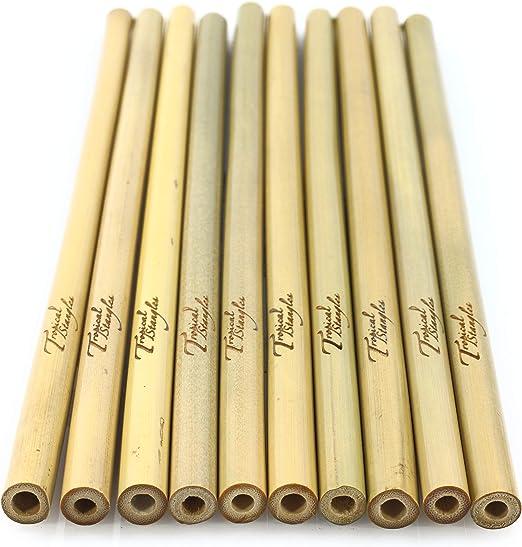 Tropical Stangles Pajita de bambú | 100% Natural, Reutilizables ...