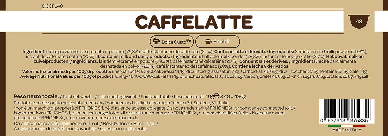 96 cápsulas compatibles con Nescafè Dolce Gusto - Café con leche - Il Caffè Italiano: Amazon.es: Alimentación y bebidas