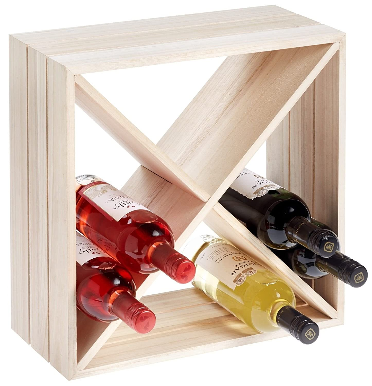 RTA, 12 Flaschen, Holz, Würfel-Weinregal, fertig montiert