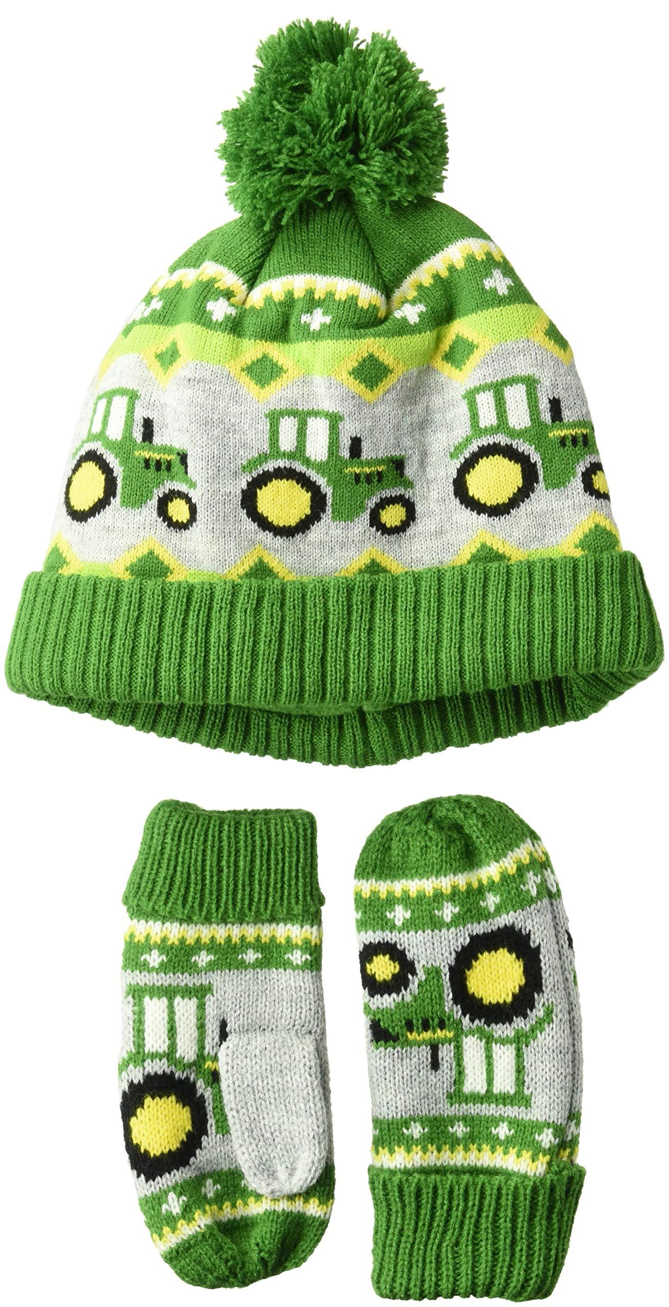 John Deere Boys' Toddler Winter Cap, Green