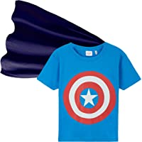 Marvel Camiseta Niño, Ropa Niño 100% Algodon, Camisetas Niño con Capa de Superheroes, Merchandising Oficial Regalos para…