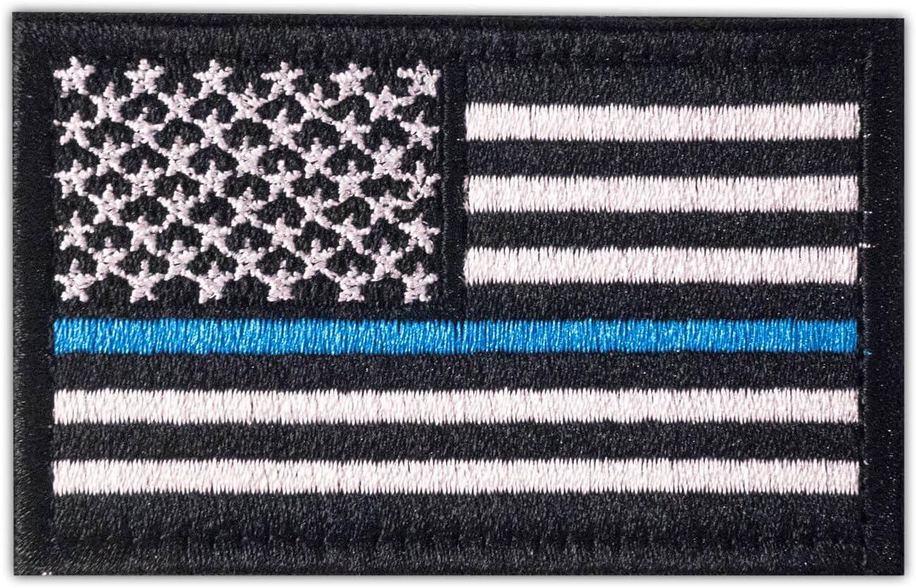 Onuris - Parche de la bandera de Estados Unidos con velcro en diferentes colores para la izquierda, Negro / SWAT.: Amazon.es: Deportes y aire libre