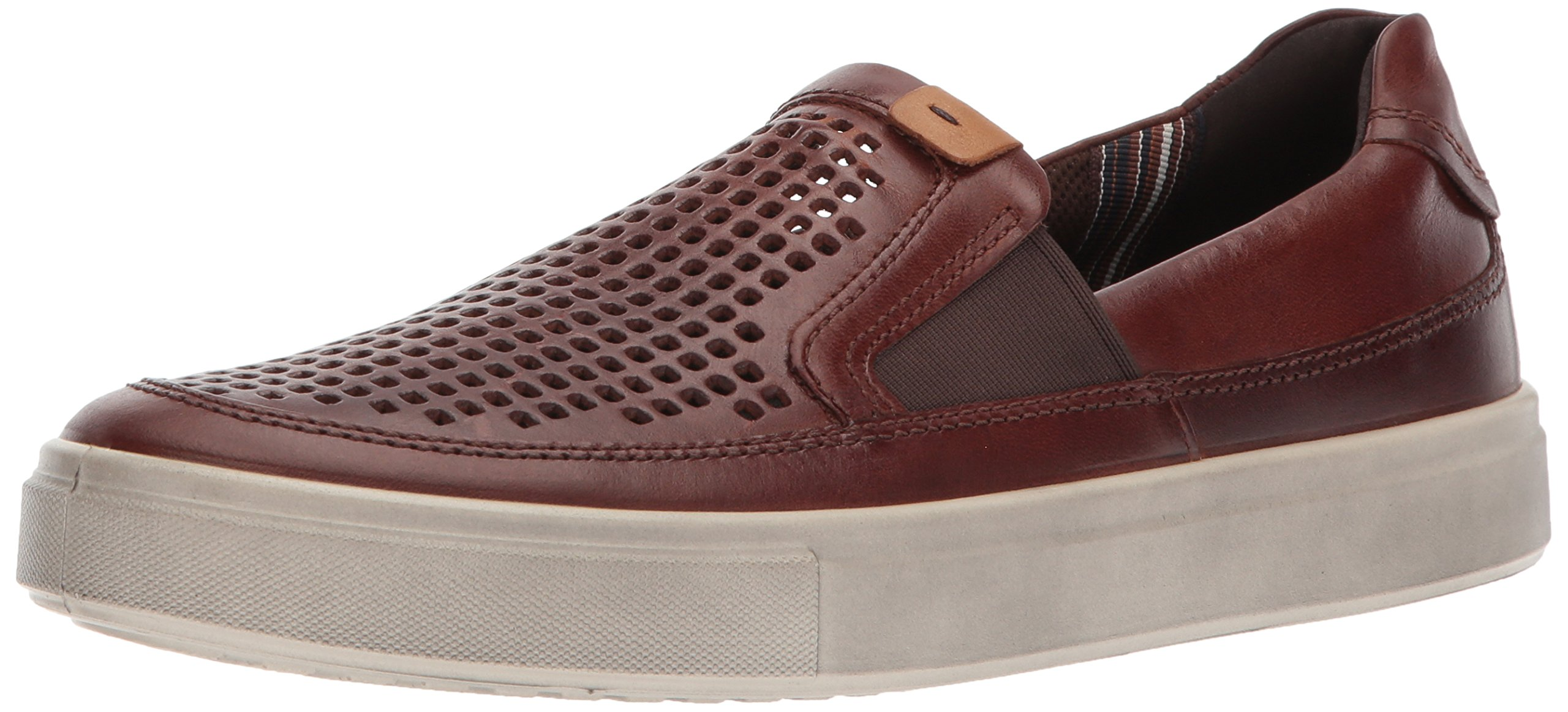 ECCO Men's Kyle Perforated Slip on Fashion Sneaker,Cognac,45 EU/11-11.5 M US