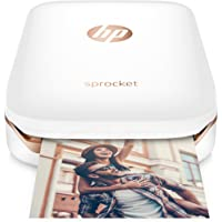 HP Sprocket Portable Photo Printer, print social media photos on 2x3 sticky-backed paper - white (X7N07A)