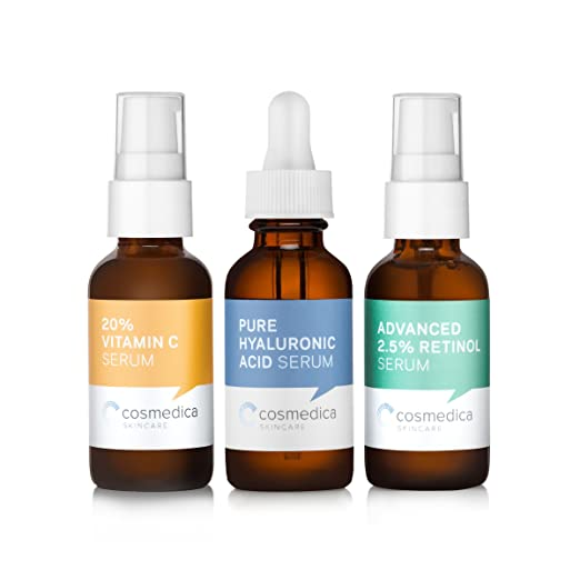 Trio Set Value- Vitamin C Serum 20% Retinol Serum 2.5% Hyaluronic Acid Serum