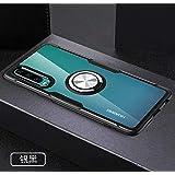 yuehuanyi Slim Fit Transparente Carcasa, 360° Giratorio Metal Anillo Kickstand,con Soporte Magnetic Car Mount Function Funda