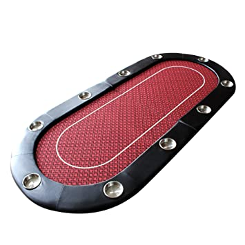 EBS Folding Poker Table Top Card Game Casino Equipment Red Speed Cloth  Jumbo Cup Holders