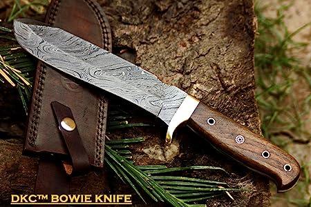 6 8 18 DKC-518 Bush Master Damascus Tanto Bowie Hunting Handmade Knife Fixed Blade 14 oz 1 Foot Long 12