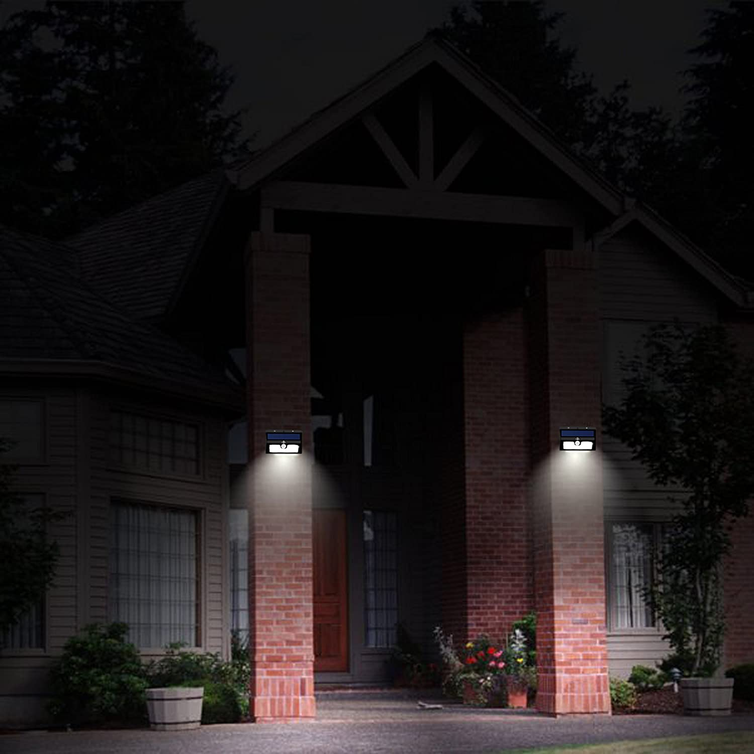 broSolar 20 Big LED Motion Sensor Solar Powered Lights Wireless