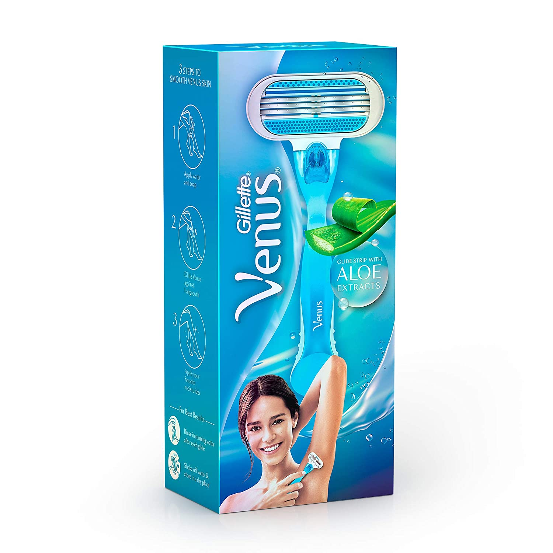 Gillette Venus Hair Removal Razor for Women with Aloe Vera: Amazon