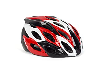 Spiuk Zirion - Casco de ciclismo, color rojo/negro / blanco, talla 53
