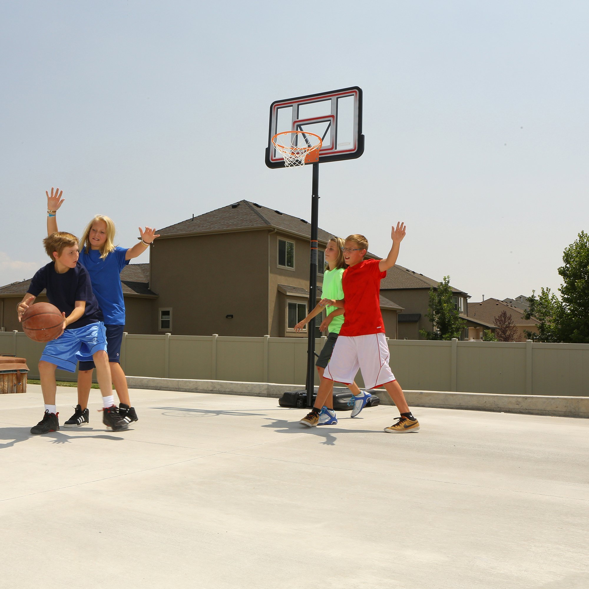 Lifetime 1269 Pro Court Height Adjustable Portable Basketball System, 44 Inch Backboard by Lifetime (Image #10)