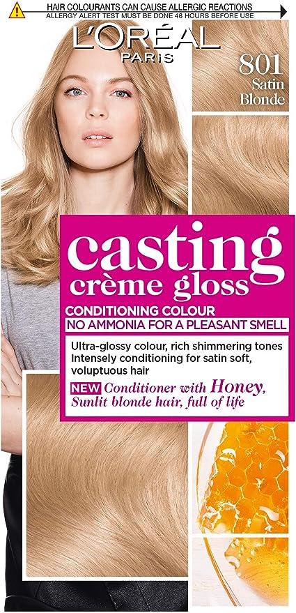 LÓreal Casting Cream Gloss 801 Satin Blonde - Tinte semipermanente para el cabello