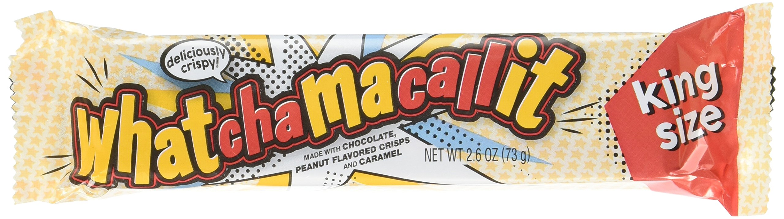 WHATCHAMACALLIT Chocolate Caramel Peanut Candy Bar, King Size (Pack of 18)