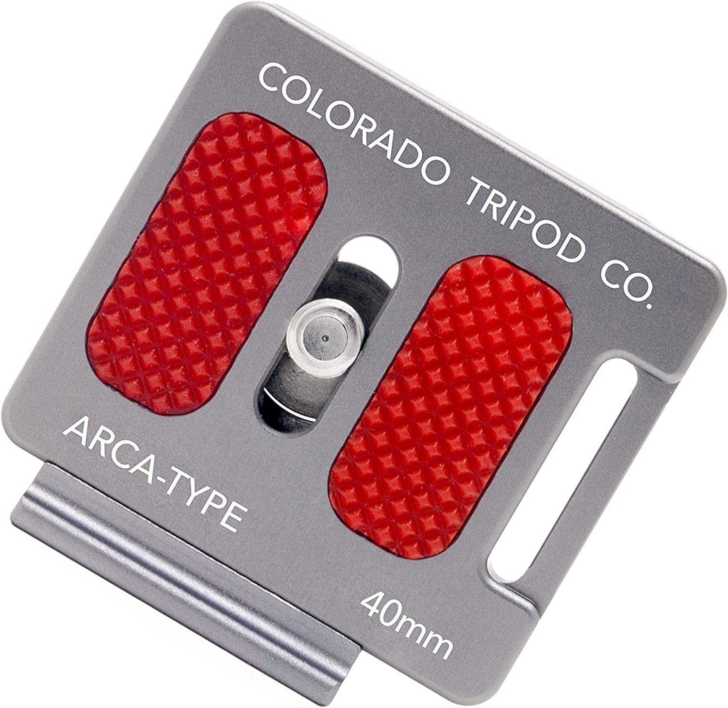 Colorado Tripod Arca Plates 40mm Universal Arca Swiss Quick Release Plate for Tripod Ball Head with Hand-Adjustable Stainless Steel Screw & Removable Rear Stopper - Gunmetal Color