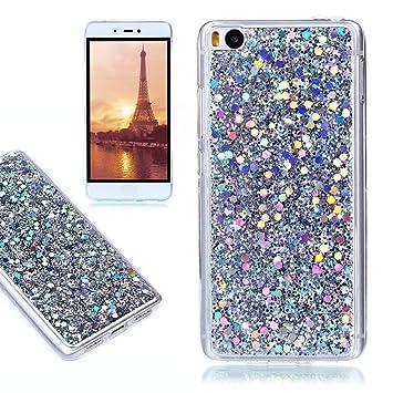 Funda Xiaomi Mi5S, E-Lush Carcasa [Crystal] Bling Purpurina ...