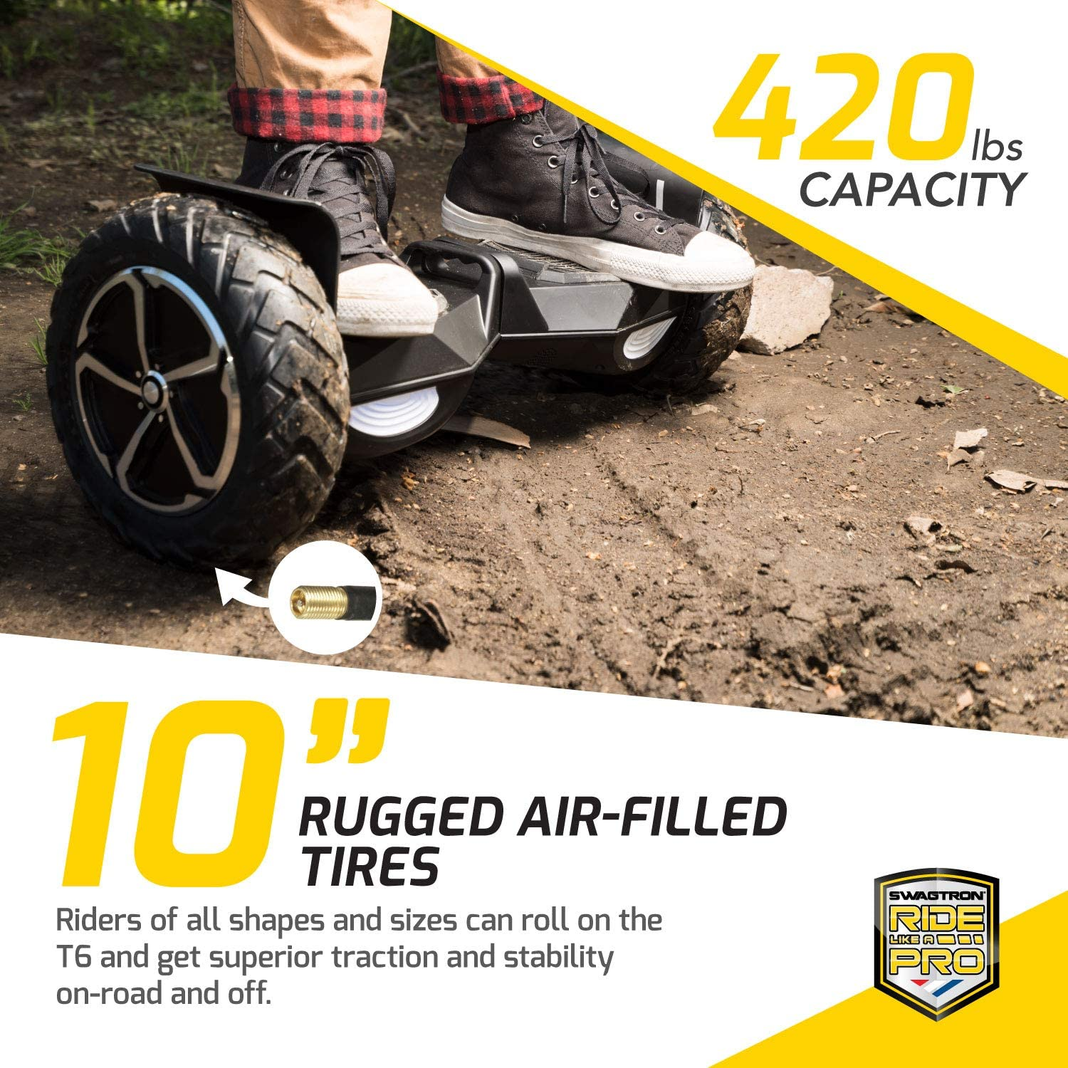 Swagtron Swagboard Outlaw T6 Off-Road Hoverboard - 3