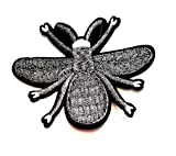 Nipitshop Patches Beautiful Silver Bee Insect