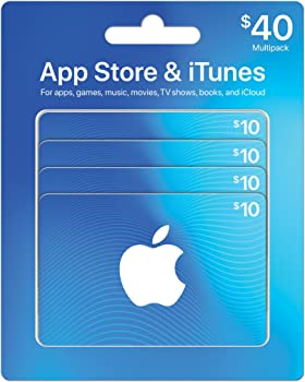 $40 App Store & iTunes Gift Cards (4 X $10)