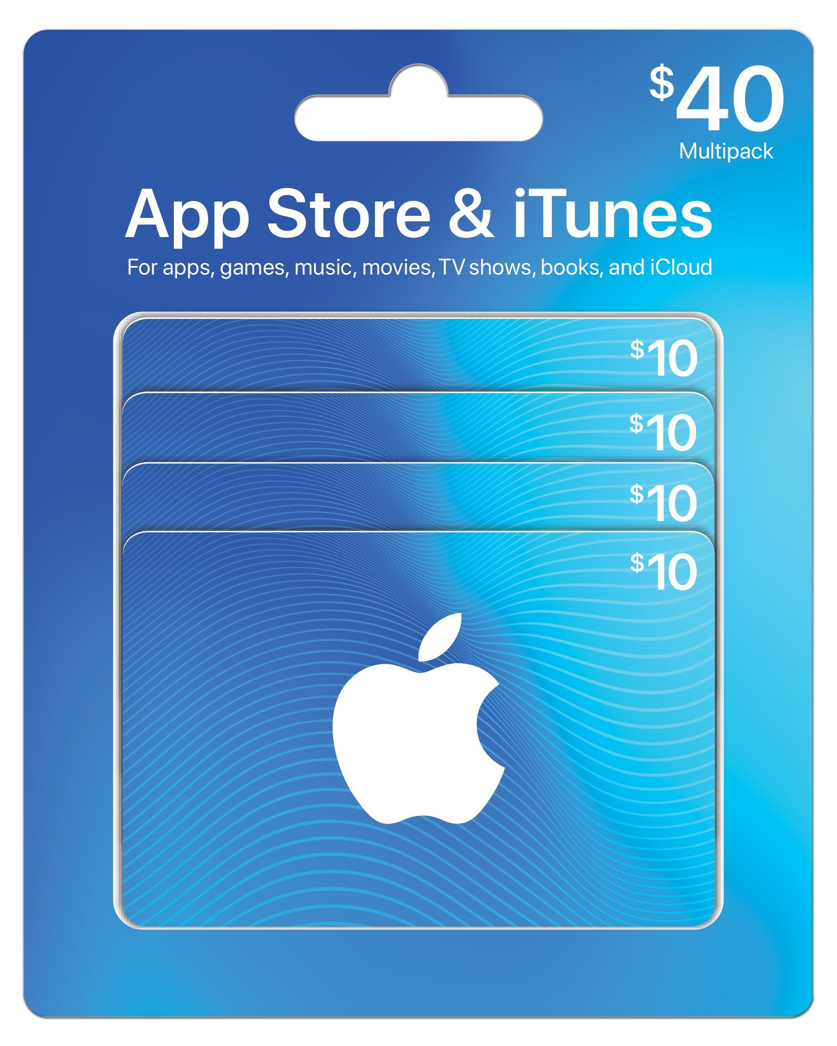 App Store Itunes Gift Cards Multipack Of 4 10 Card Us 5 Design May Vary