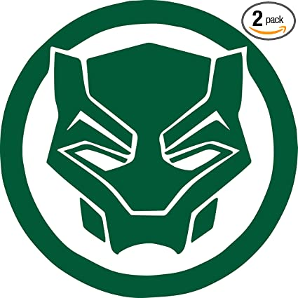Amazon Angdest Black Panther Logo Symbol Green Set Of 2