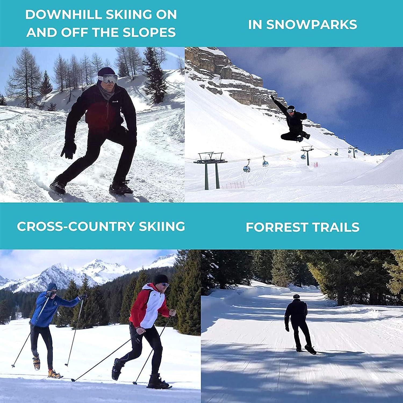 XYZLEO Mini-Skischuhe Verstellbare Riemen Kleine Ski Stellen Sie Die Dichtheit EIN Praktisch Outdoor-Sport Schneespielzeug F/üR Erwachsene Und Kinder