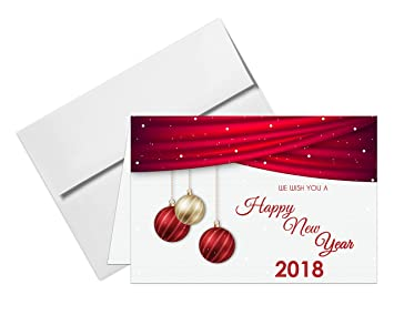 2018 happy new year cards envelopes 25 cards 25