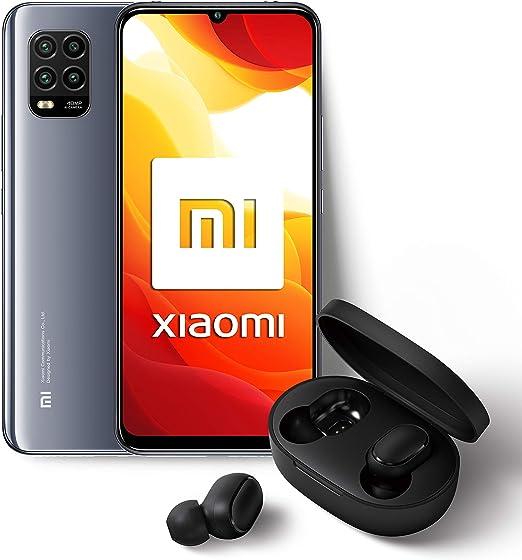 """Xiaomi Mi 10 Lite - Pack Lanzamiento (Pantalla AMOLED 6.57"""", TrueColor, 6 GB+128 GB, Cámara de 48 MP, Snapdragon 765G, 5G, 4160 mah con carga 20 W, Android 10) Gris + Mi True Wireless Earbuds S: Amazon.es: Electrónica"""