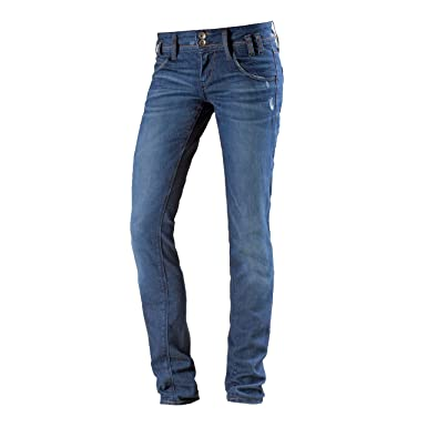 d2bfc6f8d8a0eb Fornarina Damen Skinny Fit Jeans blau 32: Amazon.de: Sport & Freizeit