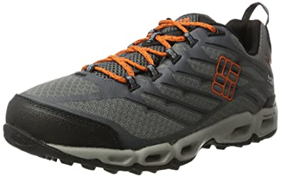 Columbia Ventrailia II Outdry, Chaussures Multisport Outdoor Homme, Gris (Ti Grey Steel/Heatwave), 40 EU