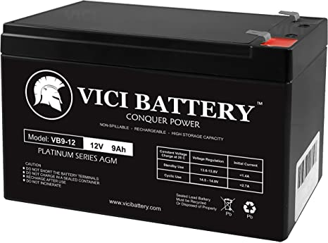 This is an AJC Brand Replacement APC BackUPS ES Series BE650G1 12V 7Ah UPS Battery