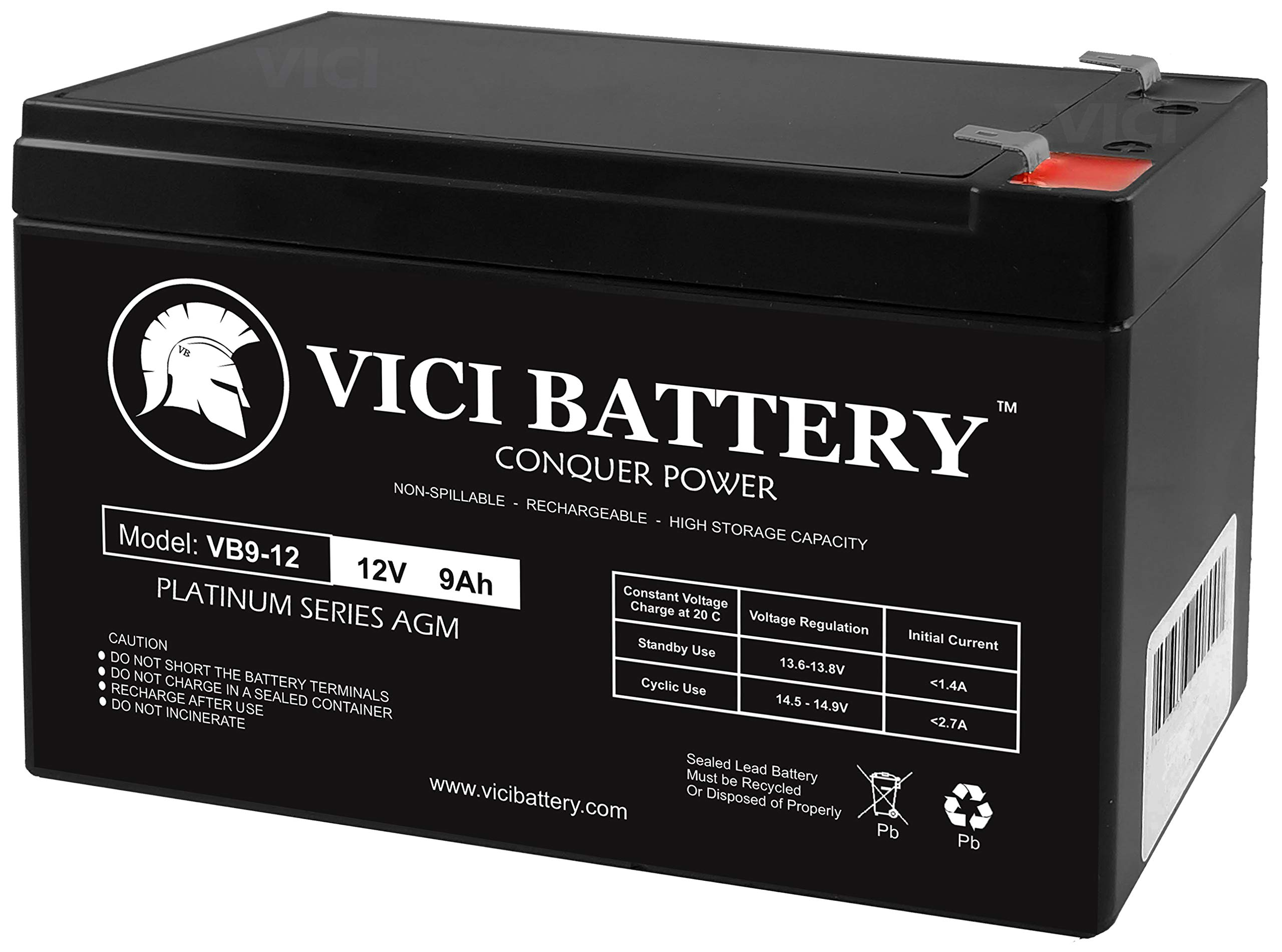 Replacement Battery - Compatible with APC BACK-UPS ES BE550G