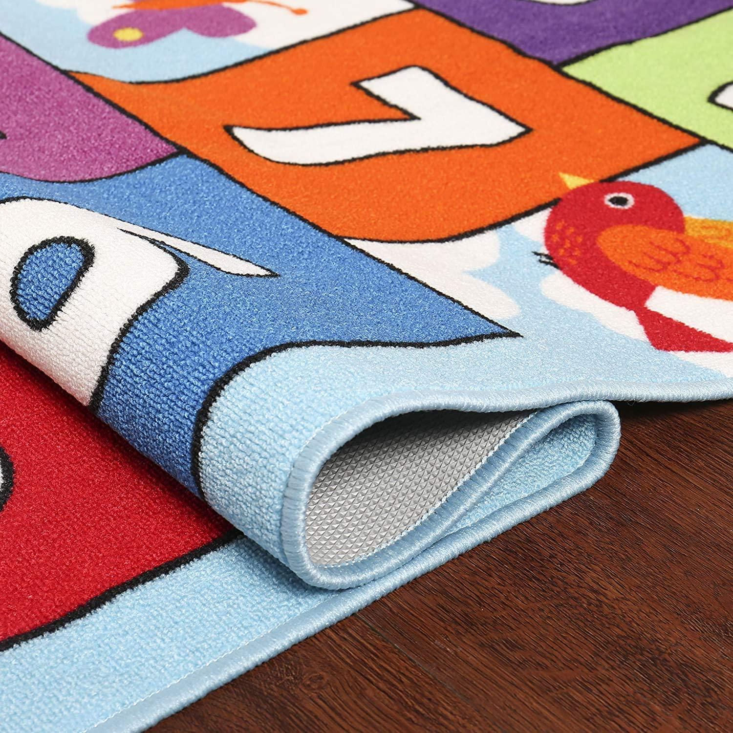 HIGHTAO Hop /& Count Hopscotch Rug Soft Carpet Children Floor Playing Crawling Game Rectangle Mat Home Decortion Floor Rug Great for 3 5 26 x 78 6 and 7 Year Olds 4