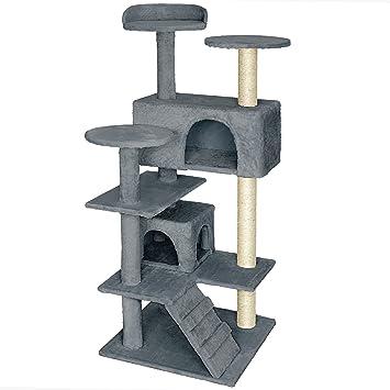TecTake Rascador Árbol para gatos Sisal - disponible en diferentes colores - (Gris | No. 401771): Amazon.es: Hogar