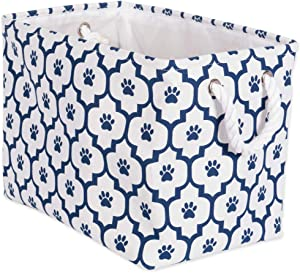 Bone Dry Paw Print Collapsible Polyester Pet Storage Bin, Rectangle Small - 14 x 8 x 9