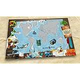 Scratchy Planet – carte du monde aventure à gratter, carte à gratter, carte aventure, atlas à gratter, carte internationale XL à gratter, scratch card, format aventure